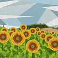 Land Of Sunflowers. by Absentis Designs