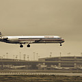 Landing At Dfw Airport by Douglas Barnard