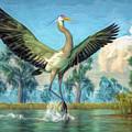Landing Heron by Daniel Eskridge