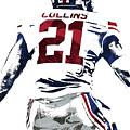Landon Collins New York Giants Pixel Art 1 by Joe Hamilton
