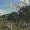 Landscape At Chailly by Jean Frederic Bazille