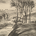 Landscape At Osny by Camille Pissarro