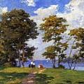 Landscape By The Shore Aka The Picnic Edward Henry Potthast by Eloisa Mannion