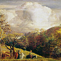 Landscape Figures And Cattle by Samuel Palmer