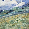 Landscape From Saint Remy At Wheat Fields  Van Gogh Series   By Vincent Van Gogh by Artistic Panda
