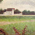 Landscape In The Ile De France by Georges Pierre Seurat