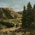 Landscape Near Ornans by Gustave Courbet