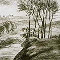 Landscape Near Osny  by Camille Pissarro