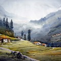 Landscape Of Himalayan Mountain by Samiran Sarkar