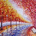 Landscape Painting Gold Alley by Valery Rybakow