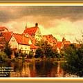 Landscape Scene - Germany. L A With Alt. Decorative Ornate Printed Frame. by Gert J Rheeders