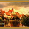 Landscape Scene - Germany L A With Decorative Ornate Printed Frame. by Gert J Rheeders