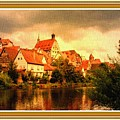 Landscape Scene - Germany. L B With Decorative Ornate Printed Frame. by Gert J Rheeders