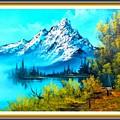 Landscape Scene Near Virginiahurst L B With Alt. Decorative Onate Printed Frame  by Gert J Rheeders