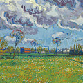 Landscape Under A Turbulent Sky by Vincent van Gogh