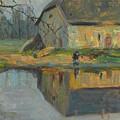 Landscape With A Barn by Visotsky