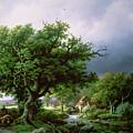 Landscape With A Mill by Barend Cornelis Koekkoek