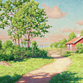 Landscape With A Red Cottage by Johan Krouthen