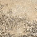 Landscape With A Rustic Bridge by Fran?ois Boucher