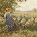 Landscape With A Shepherdess by William