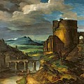 Landscape With A Tomb  by Theodore Gericault