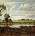 Landscape With Boatman by Theodore Rousseau