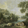 Landscape With Figures by Attributed to Giuseppe Zais