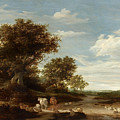 Landscape With Gracing Cows And Sheep by Celestial Images