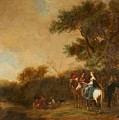 Landscape With Hunting Party by Gerrit Claesz