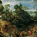 Landscape With Milkmaids And Cows by Peter Paul Rubens