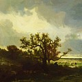 Landscape With Oaktree by Dupre Jules