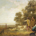 Landscape With Shepherds And Shepherdesses Near A Well by Aelbert Cuyp