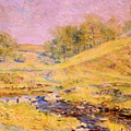 Landscape With Stream by Reid Robert Lewis