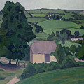 Landscape With Thatched Barn by Robert Polhill Bevan