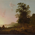 Landscape With The Flight by Aelbert Cuyp