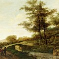 Landscape With Village Path And Men by MotionAge Designs