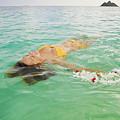 Lanikai Floating Woman by Tomas del Amo - Printscapes