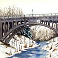 Lanterman Falls Bridge - Mill Creek Park by Michael Vigliotti
