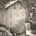 Lanterman's Mill In Mill Creek Park Black And White by Lisa Wooten