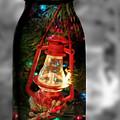Lantern In Glass Jar by Pamela Walton