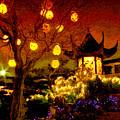 Lanterns In Chinese Garden by Julius Reque