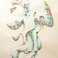 Lapis Lazuli Bejeweled Fertility Goddess by Dave Martsolf