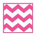 Large Chevron With Border In French Pink by Custom Home Fashions