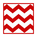 Large Chevron With Border In Red by Custom Home Fashions