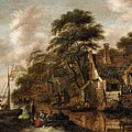 Large Farmstead On The Bank Of A River by Celestial Images