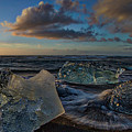 Large Icebergs At Dawn #4 - Iceland by Stuart Litoff