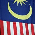 Large Malaysia Flag On Doorway Georgetown Penang Malaysia by Imran Ahmed