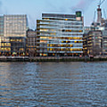 Large Panorama Of Downtown London Betwen The London Bridge And T by PorqueNo Studios