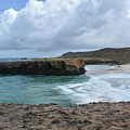 Large Rock Formation In Aruba's Boca Keto Beach by DejaVu Designs