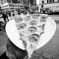 large single slice of pepperoni pizza New York City USA by Joe Fox